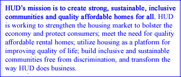 HUD Mission Statement