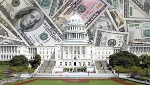 capitol building with money